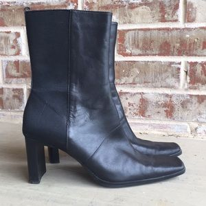 c0af564d1cf Bandolino Leather Stretch Mid Calf Pull On Boots
